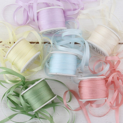 4mm Silk Ribbon Set - Pastel Shades - Six Spool Collection - Threadart.com