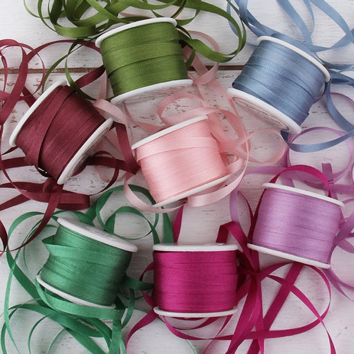 4mm Silk Ribbon Set - Romantic Shades - Seven Spool Collection - Threadart.com