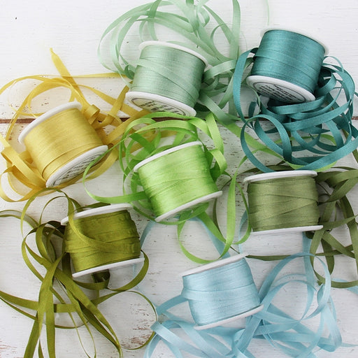 4mm Silk Ribbon Set - Oceanview Shades - Seven Spool Collection - Threadart.com