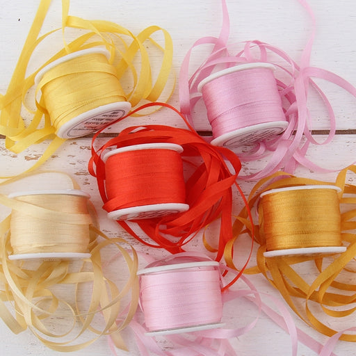 4mm Silk Ribbon Set - Sunrise Shades - Six Spool Collection - Threadart.com