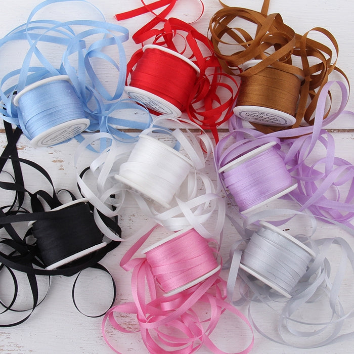 4mm Silk Ribbon Set - Essential Colors - Eight Spool Collection - Threadart.com