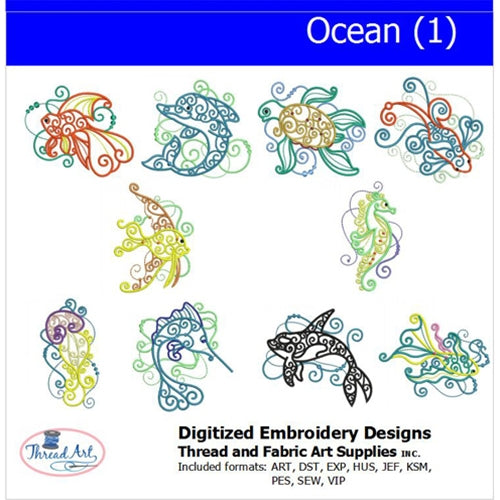 Machine Embroidery Designs - Ocean(1) - Threadart.com