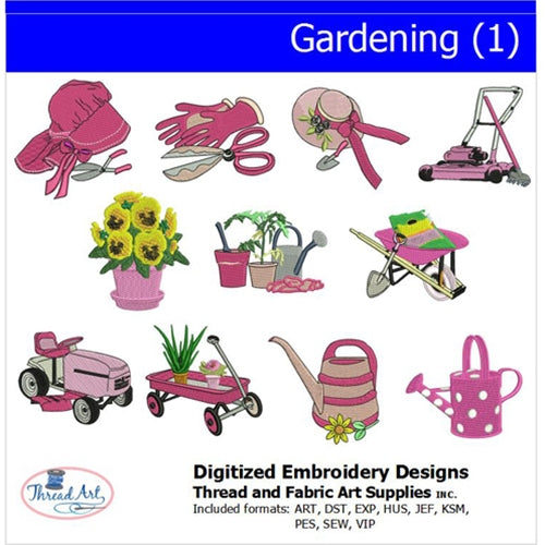Machine Embroidery Designs - Gardening(1) - Threadart.com