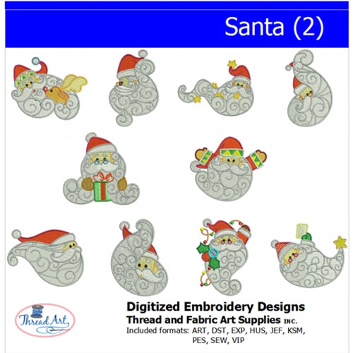 Machine Embroidery Designs - Santa(2) - Threadart.com