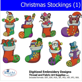 Machine Embroidery Designs - Christmas Stockings(1) - Threadart.com