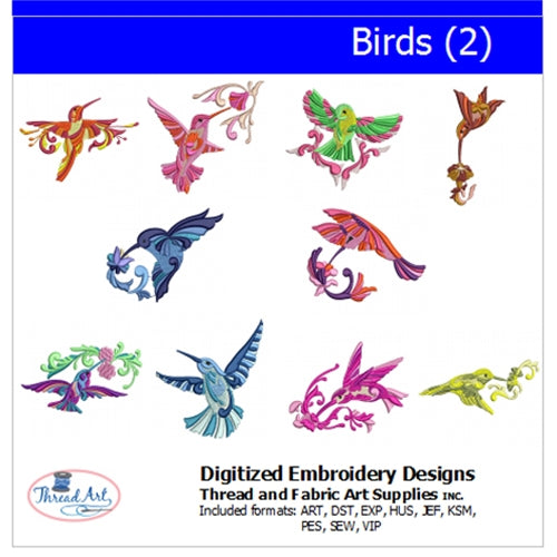 Machine Embroidery Designs - Birds(2) - Threadart.com