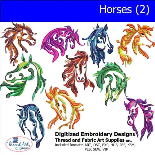 Machine Embroidery Designs - Horses(2) - Threadart.com