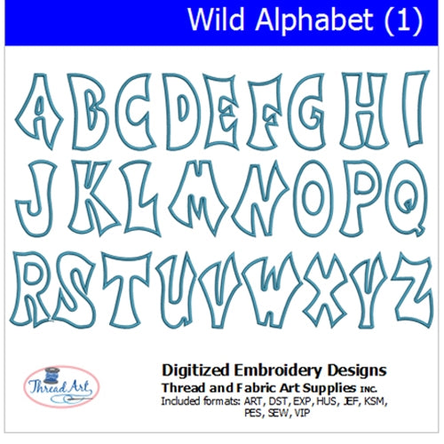 Machine Embroidery Designs - Wild Alphabet (1) - Threadart.com