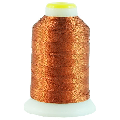 Metallic Thread - No. L52 - Orange - 500 Meter Cones - Threadart.com