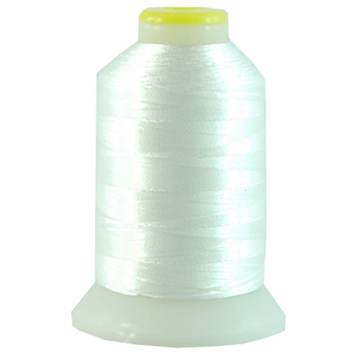Metallic Thread - No. L1 - White - 500 Meter Cones - Threadart.com