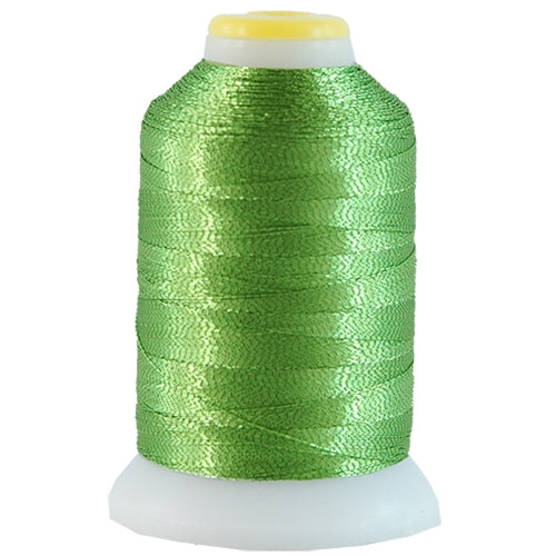 Metallic Thread - No. L61 - Light Green - 500 Meter Cones - Threadart.com