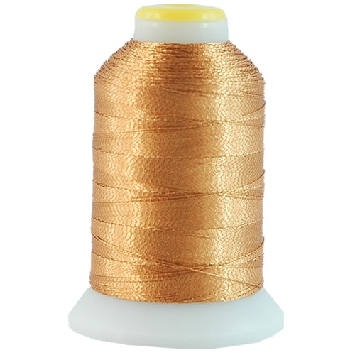 Metallic Thread - No. L14 - Light Brass - 500 Meter Cones - Threadart.com