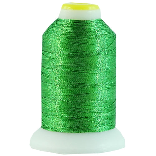 Metallic Thread - No. L63 - Green - 500 Meter Cones - Threadart.com
