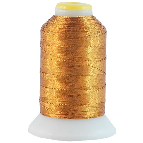Metallic Thread - No. L35 - Brass - 500 Meter Cones - Threadart.com