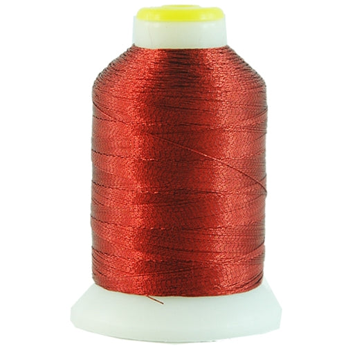 Metallic Thread - No. L46 - Red - 500 Meter Cones - Threadart.com