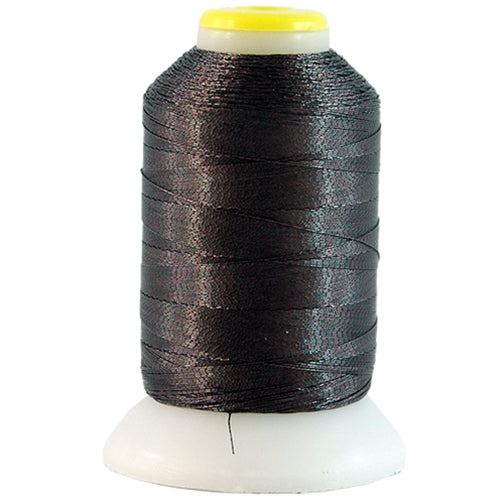 Metallic Thread - No. L95 - Dark Brown - 500 Meter Cones - Threadart.com