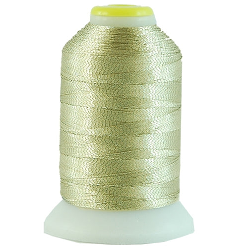 Metallic Thread - No. L4 - Light Gold - 500 Meter Cones - Threadart.com