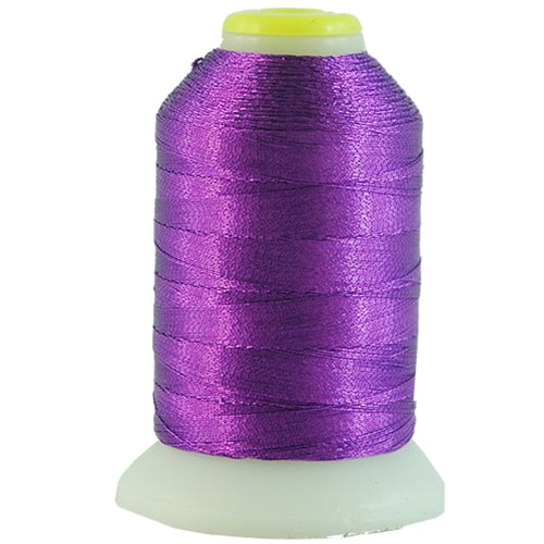 Metallic Thread - No. L58 - Purple - 500 Meter Cones - Threadart.com