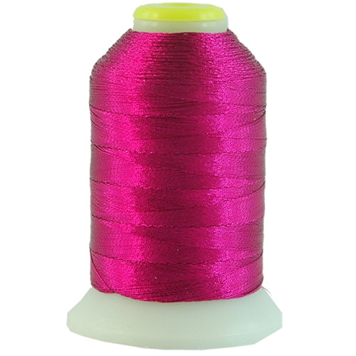 Metallic Thread - No. L54 - Fuchsia - 500 Meter Cones - Threadart.com