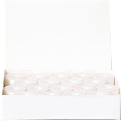 Prewound Embroidery Bobbins - 36 count per box - White Cardboard Sided  - L Style - Threadart.com