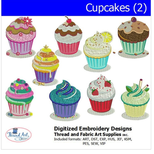 Machine Embroidery Designs - Cupcakes(2) - Threadart.com