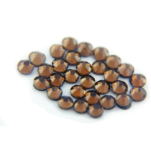 Machine Cut Hot Fix Rhinestones - SS6 - Brown - Threadart.com