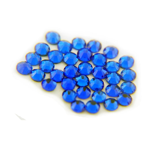 Machine Cut Hot Fix Rhinestones - SS6 -Cobalt - Threadart.com