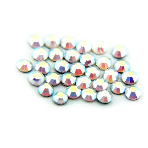 Machine Cut Hot Fix Rhinestones - SS6 -Crystal AB - Threadart.com