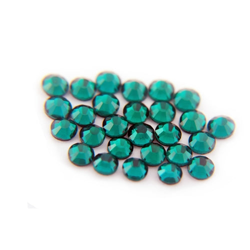 Machine Cut Hot Fix Rhinestones - SS6 -Emerald - Threadart.com