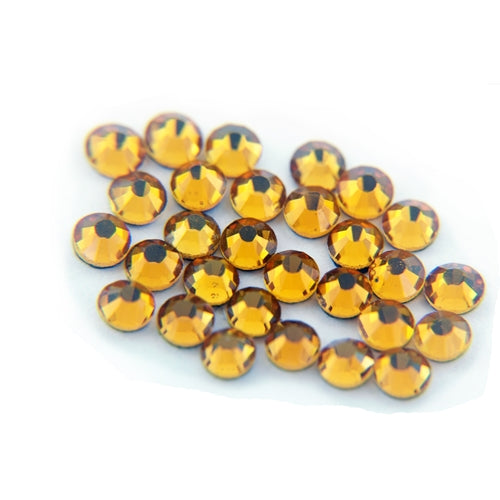 Machine Cut Hot Fix Rhinestones - SS6 -Topaz - Threadart.com