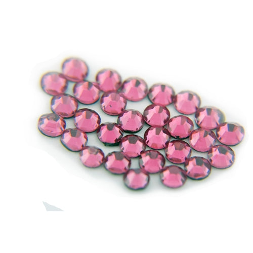 Machine Cut Hot Fix Rhinestones - SS10 - Fuchsia - Threadart.com