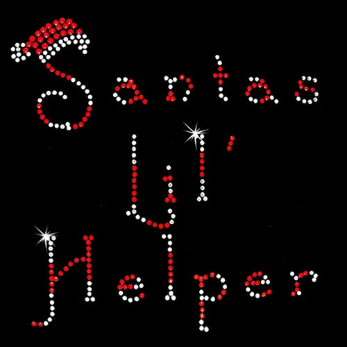 Hot Fix Motif Santas Lil' Helper - Threadart.com
