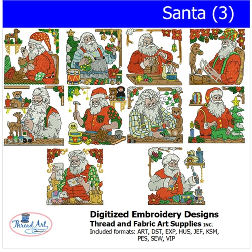 Machine Embroidery Designs - Santa(3) - Threadart.com