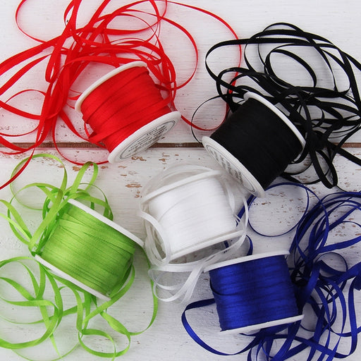 2mm Silk Ribbon Set - Essential Colors - Five Spool Collection - Threadart.com