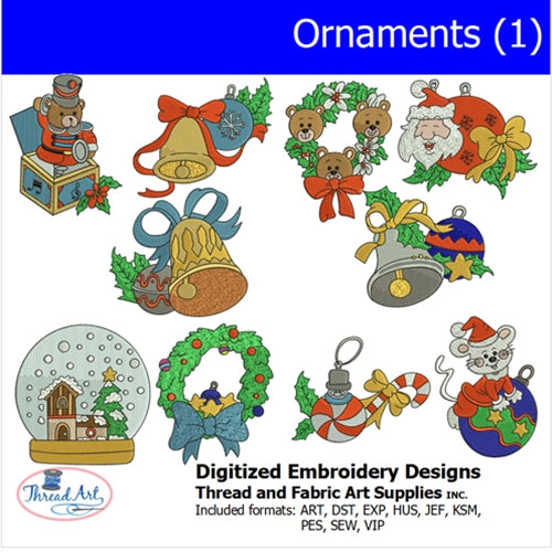 Machine Embroidery Designs - Ornaments (1) - Threadart.com