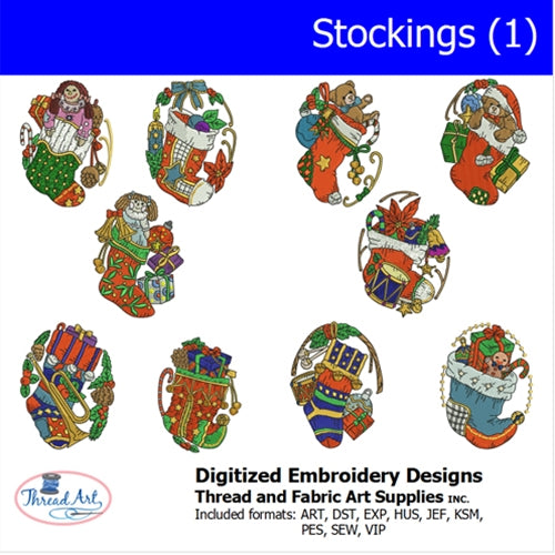 Machine Embroidery Designs - Stockings (1) - Threadart.com