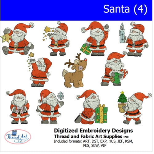 Machine Embroidery Designs - Santa(4) - Threadart.com