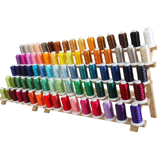 80 Cones of 500M Polyester Machine Embroidery Thread Set - A&B - Threadart.com