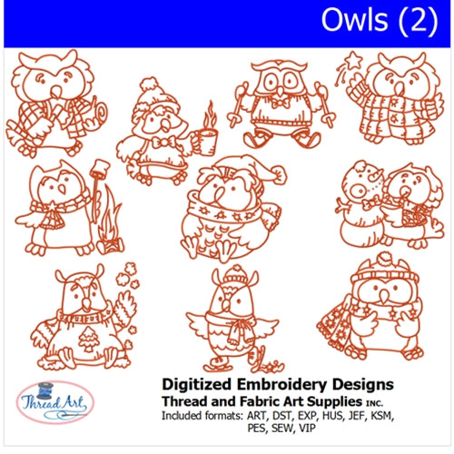 Machine Embroidery Designs - Owls(2) - Threadart.com