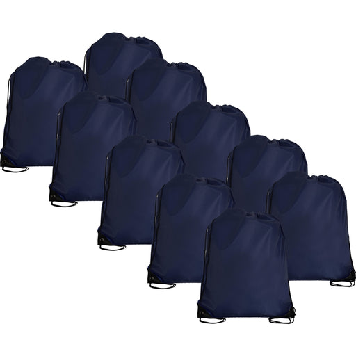 10 Drawstring Tote Bags - Navy - Threadart.com