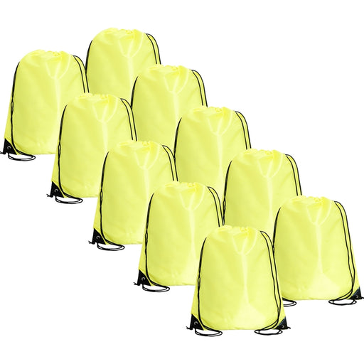 10 Drawstring Tote Bags - Yellow - Threadart.com