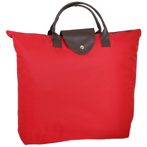 Foldable Shopping Bag Oxford - Red - Threadart.com