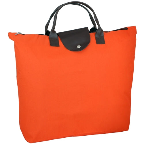 Foldable Shopping Bag Oxford - Orange - Threadart.com