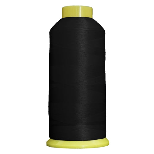 Large Polyester Embroidery Thread No. 102 - Black- 5000 M - Threadart.com