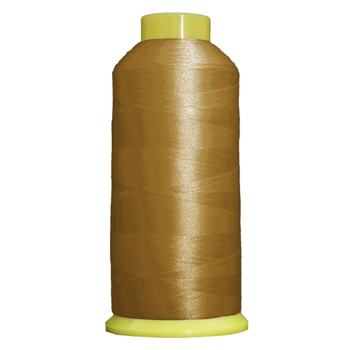 Large Polyester Embroidery Thread No. 121 - Lt Gold - 5000 M - Threadart.com