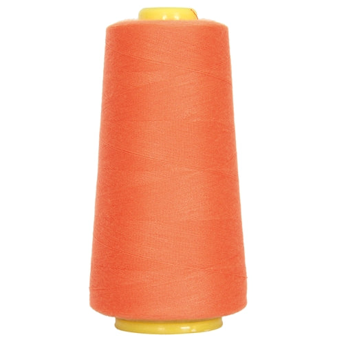 Polyester Serger Thread - Tex Orange 112 - 2750 Yards - Threadart.com