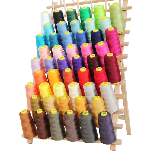 50 Cones Serger Thread Spun Polyester - 2750 yd Cones - Threadart.com
