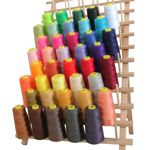 40 Cones Serger Thread Spun Polyester - 2750 yd Cones - Threadart.com