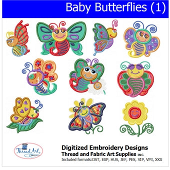 Machine Embroidery Designs - Baby Butterflies(1) - Threadart.com