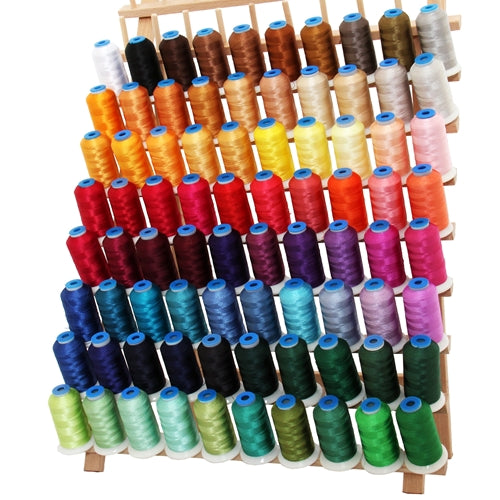 80 Colors of Rayon Thread Set - 1000 Meters - Threadart.com